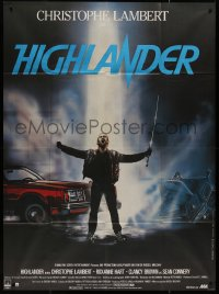 8t0936 HIGHLANDER French 1p 1986 different art of immortal Christopher Lambert by Rombi!