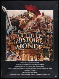 8t0939 HISTORY OF THE WORLD PART I French 1p 1982 Jean Mascii artwork of gladiator Mel Brooks!