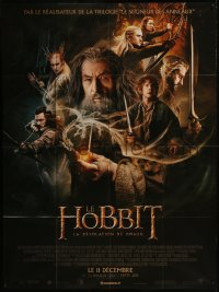 8t0940 HOBBIT: THE DESOLATION OF SMAUG advance French 1p 2013 Peter Jackson, cool cast montage!