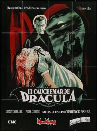 8t0946 HORROR OF DRACULA French 1p R2006 best Noel art of vampire Christopher Lee carrying woman!