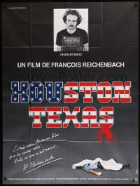 8t0950 HOUSTON TEXAS French 1p 1983 Francois Reichenbach documentary about murderer Charles Bass!