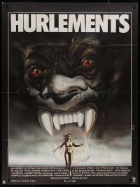 8t0951 HOWLING French 1p 1981 Joe Dante, cool art of screaming female tranforming into a werewolf!