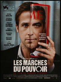 8t0959 IDES OF MARCH French 1p 2011 Ryan Gosling & George Clooney on cover of TIME magazine!