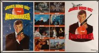8t0007 MOONRAKER advance 1-stop poster 1979 art of Roger Moore as James Bond by Daniel Goozee!