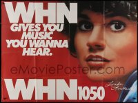 8t0005 WHN 1050 45x59 subway poster 1970s Linda Ronstadt, it gives you music you wanna hear!
