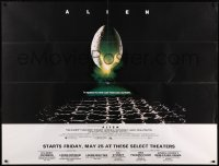 8t0003 ALIEN subway poster 1979 Ridley Scott sci-fi classic, cool hatching egg image!