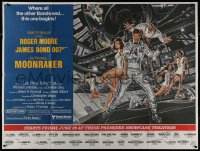 8t0002 MOONRAKER subway poster 1979 art of Roger Moore as James Bond & sexy space babes by Goozee!