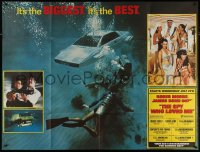 8t0001 SPY WHO LOVED ME subway poster 1977 Roger Moore as James Bond, Lotus Espirit submarine, rare!