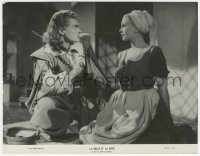 8w0004 LA BELLE ET LA BETE French 8.25x10.75 still 1947 Jean Marais staring at Josette Day, Cocteau!