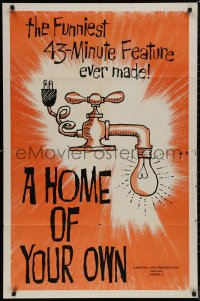 8w0970 HOME OF YOUR OWN 1sh 1964 English comedy, cool art, Ronnie Barke!