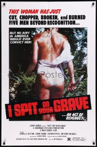 8w0977 I SPIT ON YOUR GRAVE 1sh 1978 woman who tortured 5 men, young Demi Moore pictured on poster!