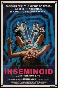 8w0985 INSEMINOID int'l 1sh 1982 different wild art of birth, a horrific nightmare becomes reality!