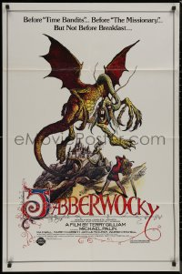 8w0988 JABBERWOCKY 1sh R1982 Terry Gilliam, Monty Python, great fantasy monster art!