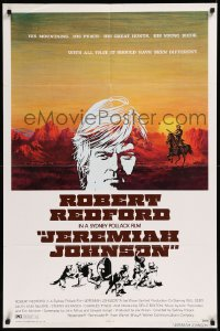 8w0991 JEREMIAH JOHNSON style B 1sh 1972 art of Robert Redford by CoConis, directed by Sydney Pollack!