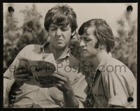 8w0010 HELP 2 Swiss 7x9 stills 1965 Ringo Starr playing the drums and reading with Paul McCartney!