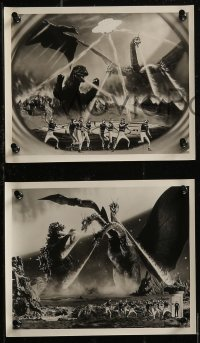 8w0001 INVASION OF ASTRO-MONSTER 20 8x10 Japanese export stills 1970 Toho, battling monsters!