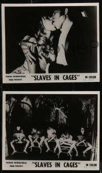 8w0012 SLAVES IN CAGES 8 Canadian 8x10 stills 1974 Leif Betheas, Annelise Detts, Denmark, Captives!