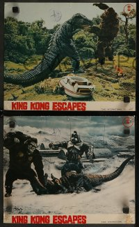 8w0033 KING KONG ESCAPES 6 Japanese LCs 1968 Kingukongu no Gyakushu, Toho, monster battle images!
