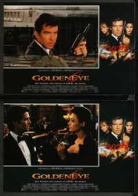 8w0040 GOLDENEYE 12 Spanish LCs 1995 Pierce Brosnan as secret agent James Bond 007, Scorupco!