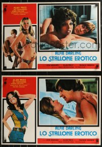 8x0697 ALFIE DARLING group of 6 Italian 19x26 pbustas 1980 sexy Joan Collins and Alan Price!
