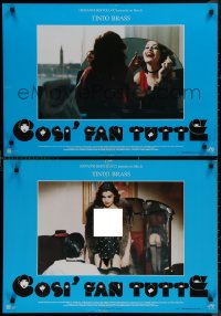 8x0698 ALL LADIES DO IT group of 6 Italian 19x27 pbustas 1992 Tinto Brass directed, Claudia Koll!