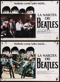 8x0699 BIRTH OF THE BEATLES group of 6 Italian 18x26 pbustas 1981 origin of John, Paul, George & Ringo!