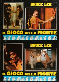 8x0701 BRUCE LEE: THE MAN, THE MYTH group of 6 Italian 18x26 pbustas R1980s Bruce Lee biography!