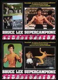 8x0700 BRUCE LEE: THE MAN, THE MYTH group of 6 Italian 18x26 pbustas 1980 Bruce Lee biography!