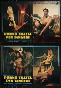 8x0703 CONFESSIONS OF THE SEX SLAVES group of 6 Italian 18x26 pbustas 1980 Tanzerinnen fur Tanger!