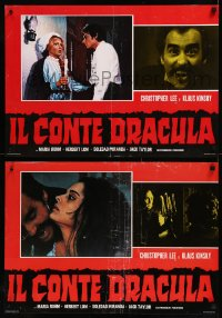 8x0704 COUNT DRACULA group of 6 Italian 18x25 pbustas R1978 Jess Franco, vampire Christoper Lee!
