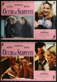 8x0705 DANGEROUS GAME group of 6 Italian 19x26 pbustas 1993 Abel Ferrara, Keitel and sexiest Madonna!
