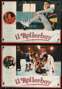 8x0707 DESPERATE MOVES group of 6 Italian 18x26 pbustas 1980 Tracy, roller skating, the Rollerboy!