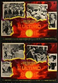 8x0691 L'ULTIMO SOLE group of 7 Italian 19x27 pbustas 1964 Adriano Bolzoni's mondo documentary!