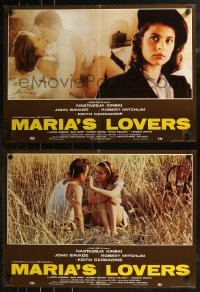 8x0714 MARIA'S LOVERS group of 6 Italian 19x26 pbustas 1984 Nastassja Kinski, Mitchum, & John Savage!