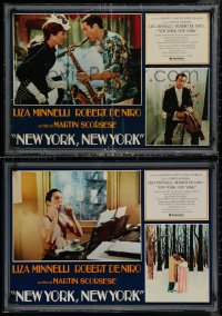 8x0671 NEW YORK NEW YORK group of 8 Italian 18x26 pbustas 1977 Robert De Niro, Minnelli, Scorsese!