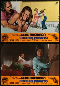 8x0672 NIGHT MOVES group of 8 Italian 18x26x26 pbustas 1975 Gene Hackman, Susan Clark, Yulin, Penn!