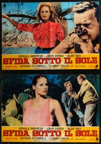 8x0717 NIGHTMARE IN THE SUN group of 6 Italian 19x27 pbustas 1964 sexy Ursula Andress & John Derek!