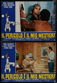8x0673 ONE MUST LIVE DANGEROUSLY group of 8 Italian 19x26 pbustas 1975 Il faut vivre dangereusement!