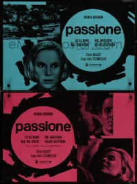 8x0674 PASSION group of 8 Italian 18x26 pbustas 1970 Bergman's En Passion, Ullmann & Von Sydow!