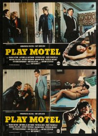 8x0719 PLAY MOTEL group of 6 Italian 18x26 pbustas 1979 La Casa del Placer, sexy & different!