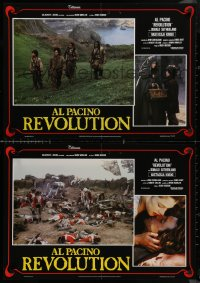 8x0678 REVOLUTION group of 8 Italian 18x26 pbustas 1986 Al Pacino, Nastassja Kinski, set in 1776!