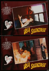 8x0693 SILENT SCREAM group of 7 Italian 19x26x26 pbustas 1980 Barbara Steele, terror so sudden!
