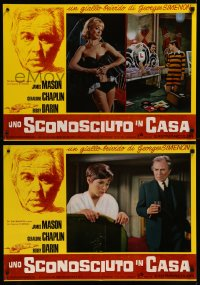 8x0683 STRANGER IN THE HOUSE group of 8 Italian 19x27 pbustas 1968 James Mason, Geraldine Chaplin!