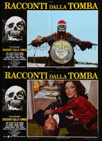 8x0684 TALES FROM THE CRYPT group of 8 Italian 18x26 pbustas 1972 E.C. comics, Joan Collins!
