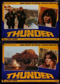 8x0696 THUNDER group of 7 Italian 18x26x27 pbustas 1983 steroided Mark Gregory, Bo Svenson!