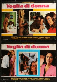 8x0687 VOGLIA DI DONNA group of 8 Italian 19x27 pbustas 1978 great images of Cavina & Laura Gemser!
