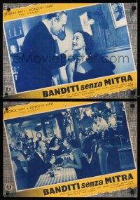8x0712 LOAN SHARK group of 6 Italian 13x19 pbustas 1955 George Raft, Dorothy Hart!
