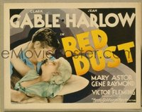 v165 RED DUST  TC '32 Clark Gable & sexy Jean Harlow!