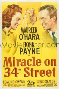 092 MIRACLE ON 34TH STREET ('47) linen 1sheet