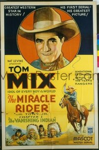 245 MIRACLE RIDER 15 One-Sheets, 8 Chapter #1 LCs & 1 Three-Sheet